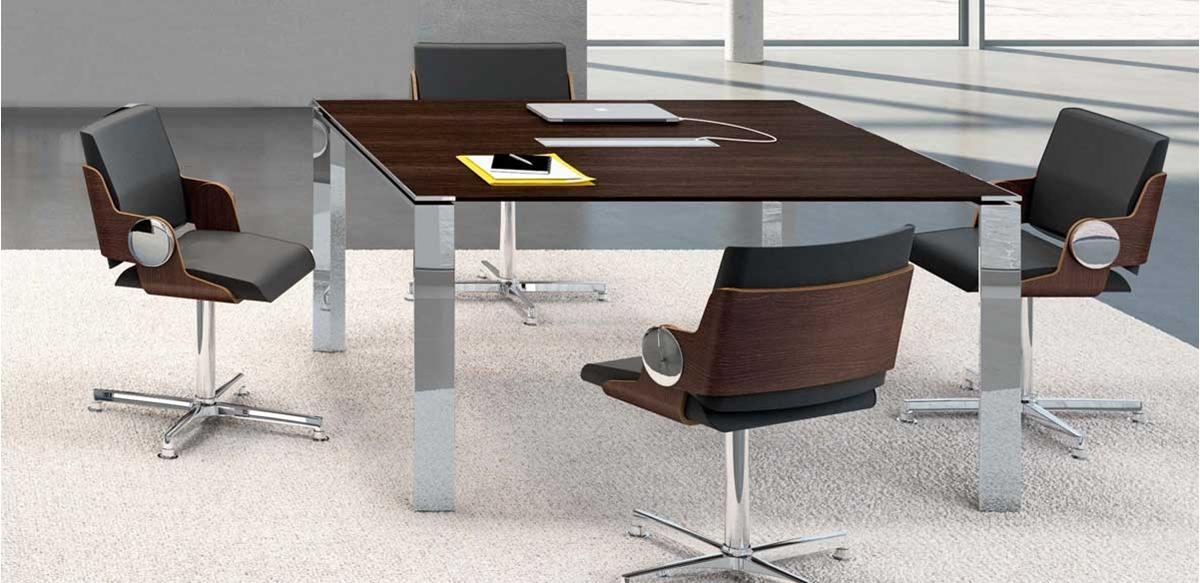 Mobili per ufficio tavolo riunioni quadrato cm 140 for Tavolo quadrato
