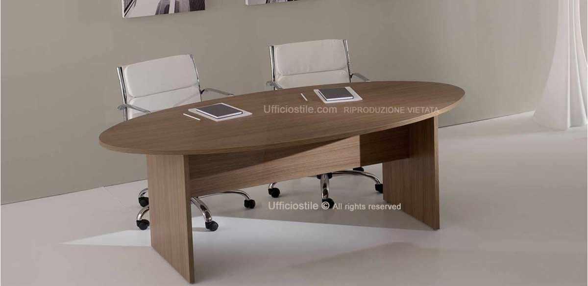mobili per ufficio tavolo riunioni ovale cm 200