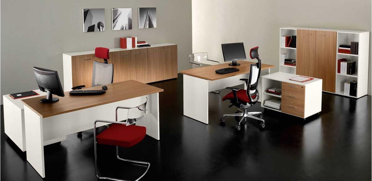 Mobili per ufficio - Mobili ufficio bicolore Composizione DD