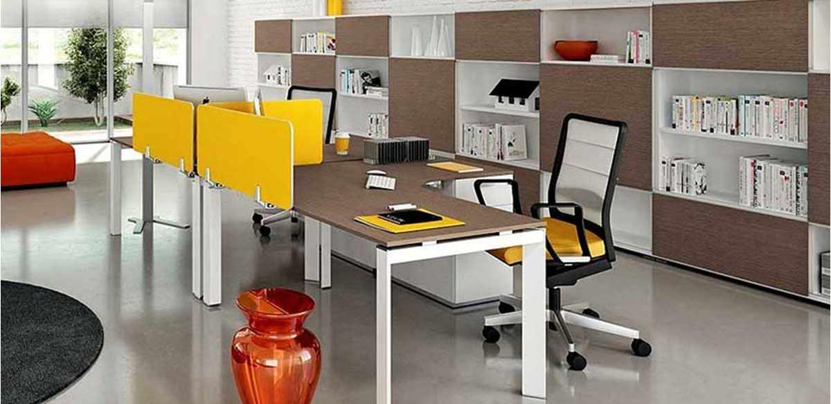Mobili per ufficio scrivanie sagomate linea 441 for Color tabacco mobili