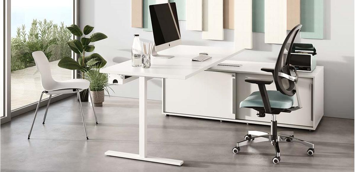 Mobili per ufficio scrivania canalizzata con mobile for Scrivania con mobile