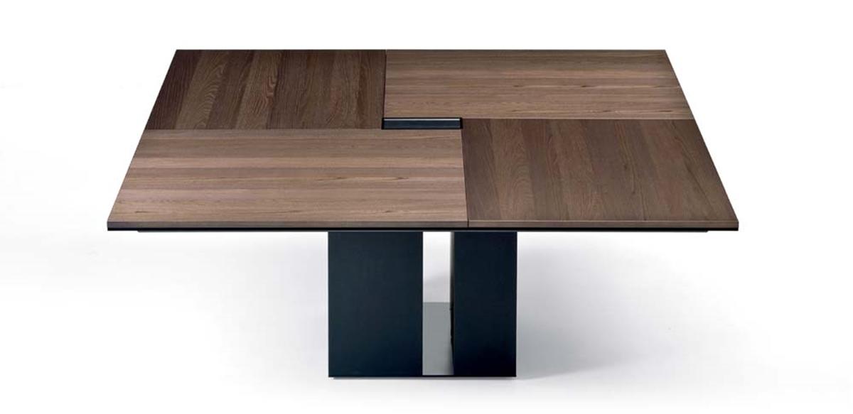 Mobili per ufficio tavolo riunioni quadrato in legno - Tavolo quadrato legno ...