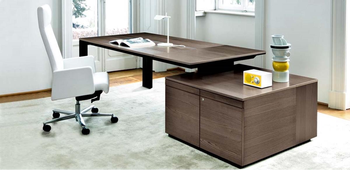 Mobili per ufficio scrivania direzionale con top for Scrivania con mobile