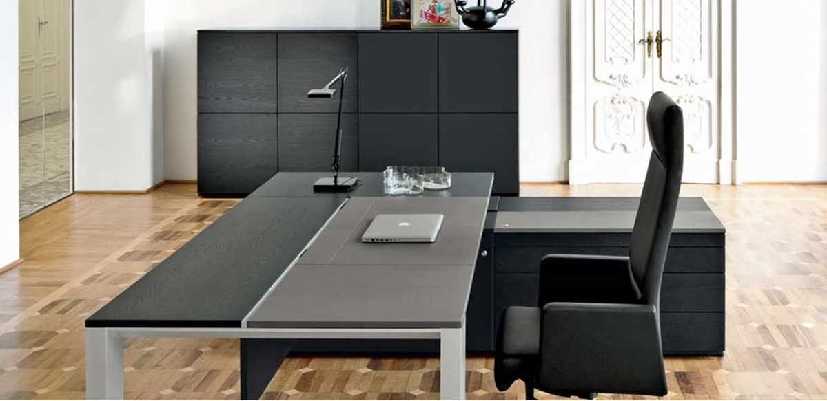 Mobili per ufficio scrivania con top scorrevole e mobile for Scrivania con mobile