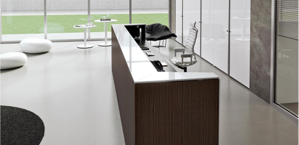 Mobili per ufficio banconi reception lineari e funzionali for Banconi reception per ufficio