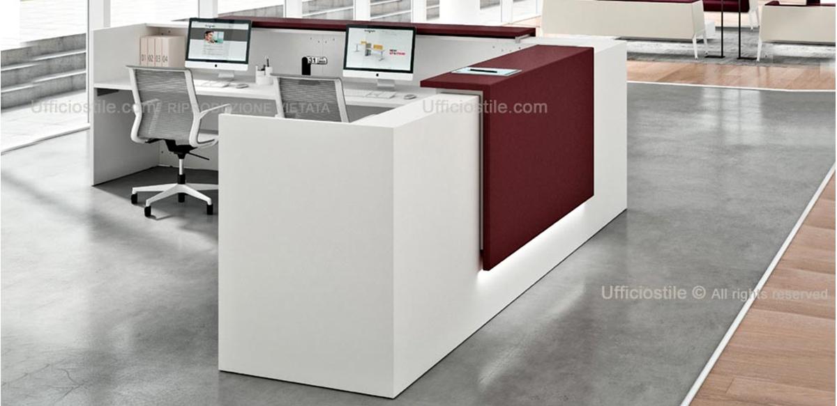 Bancone reception angolare cm 323 x 323 for Banconi per ufficio
