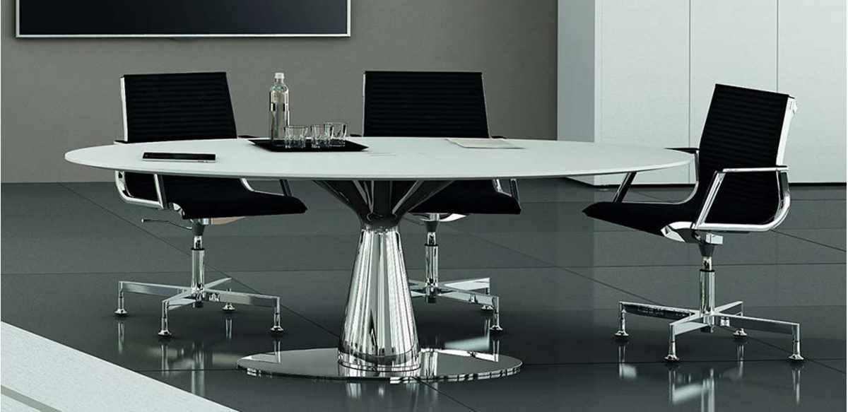 Mobili per ufficio tavolo riunioni ovale di rappresentanza for Tavolo ovale ufficio