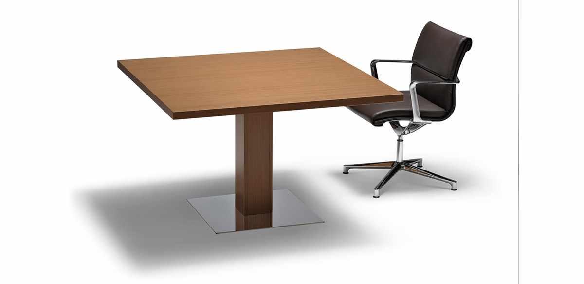 Tavolo riunioni quadrato impiallacciato legno - Tavolo quadrato legno ...
