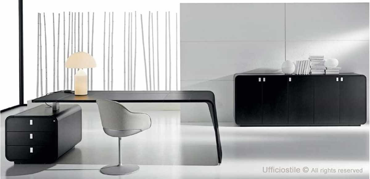 Mobili per ufficio mobili ufficio laccato nero for Mobili ufficio scrivania