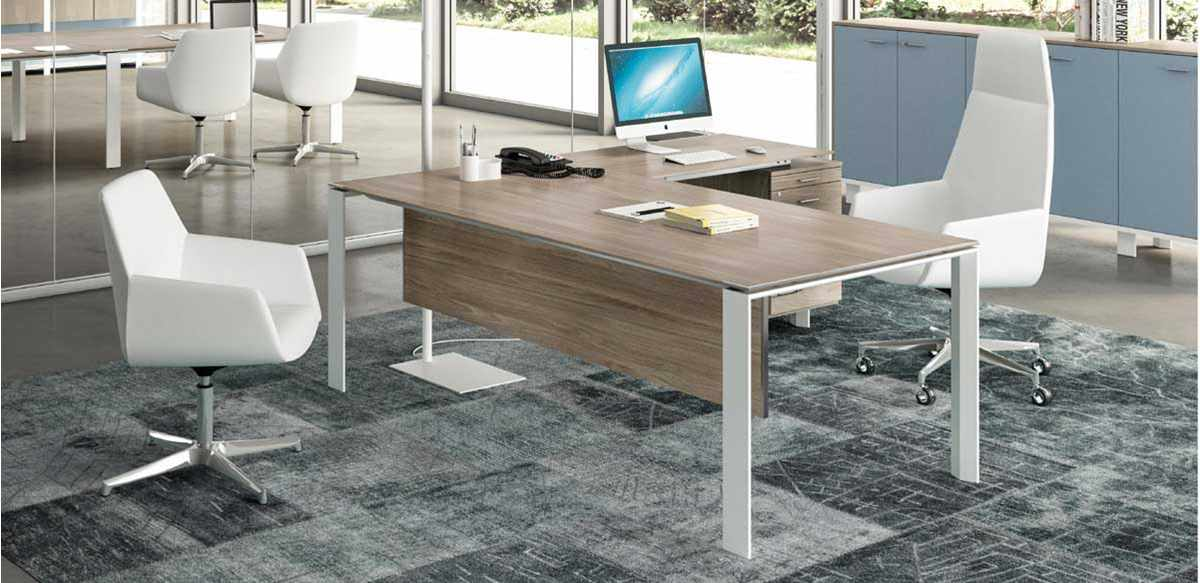 Mobili per ufficio scrivania allungo e cassettiera for Mobili ufficio scrivania