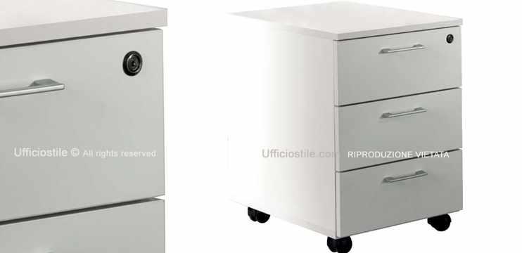Mobili per ufficio cassettiera ufficio tre cassetti su ruote for Cassettiere ufficio