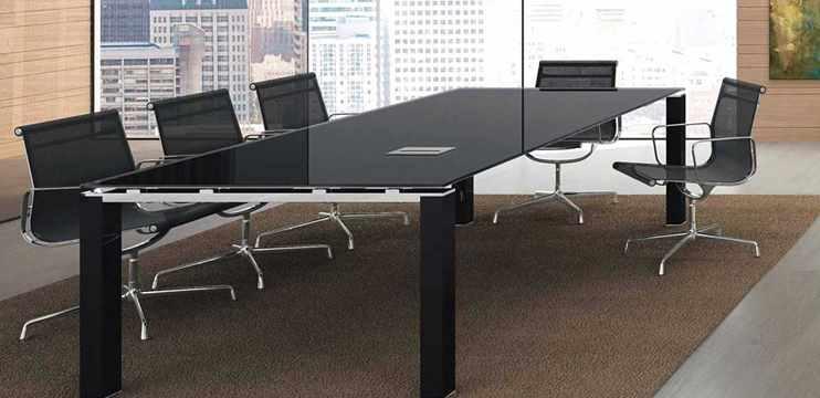 Tavoli riunioni vetro o cristallo prezzi visibili sul sito ufficiostile - Tavolo cristallo rettangolare usato ...