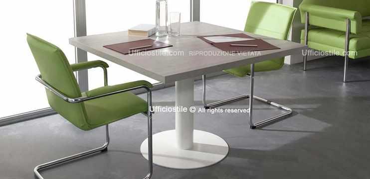 Mobili Per Ufficio Tavolo Riunioni Quadrato Cm 140