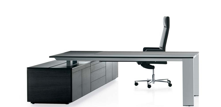 Scrivania design con sliding top e mobile portante