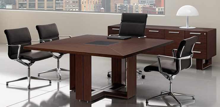 Mobili Per Ufficio Tavolo Riunioni Quadrato In Legno