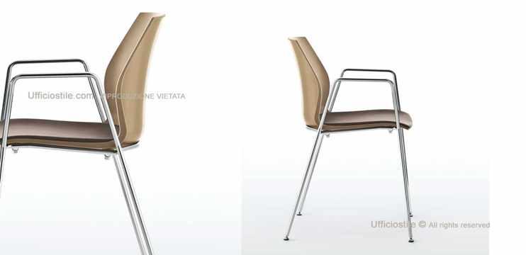 Mobili per ufficio - Sedia girevole su piedi fissi.