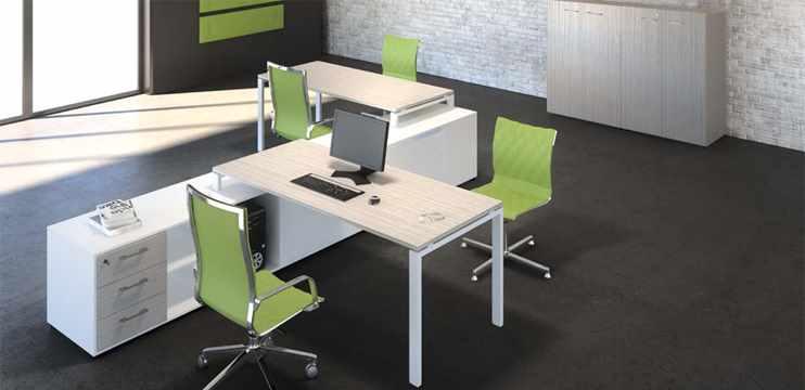 Mobili per ufficio due postazioni ufficio con mobili for Arredo ufficio tecnico