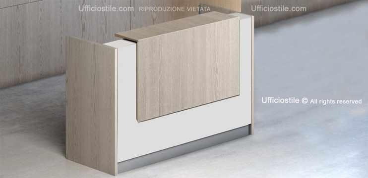Bancone reception cm. 165 x 68